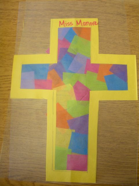 Lenten crosses for kinders for Cross craft for kids