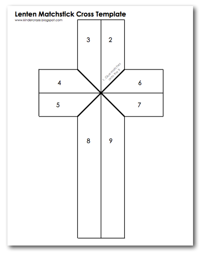 template for a cross
