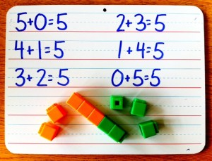 Hands-on activities for decomposing numbers