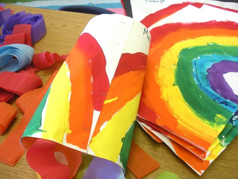 rainbow windsock art project
