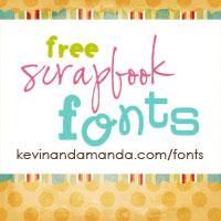 I get the cutest scrapbooking fonts at Free Scrapbook Fonts! kevinandamanda.com/fonts