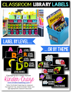 Classroom Library Labels have everything you need to lane the books and containers in your classroom library!