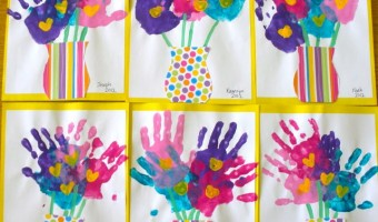 Mother's Day Forever Handprint Bouquet