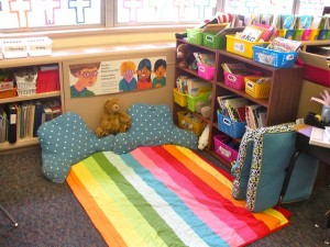 Love this teacher's classroom library!