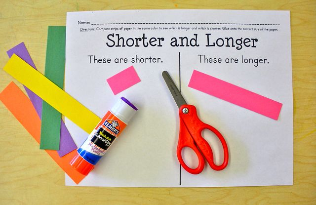 FREE worksheet to compare lengths of objects