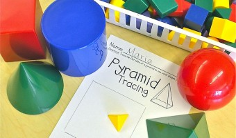 Solid Figures: Manipulatives, Worksheets and a FREEBIE!