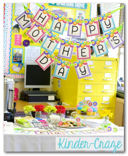 beautiful ideas and printables for a classroom Mother's Day Tea Party