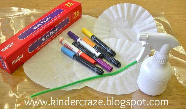Coffee filter flowers tutorial supplies markers coffee filters 1 4 per flower mightylinksfo