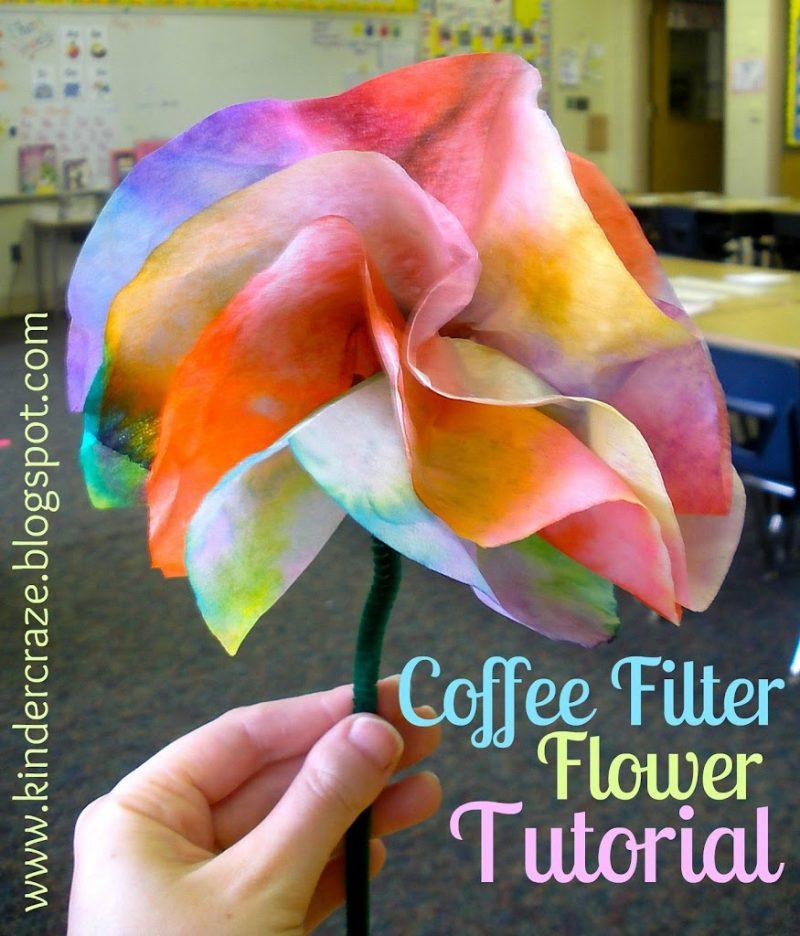 Coffee filter flowers tutorial finished flower mightylinksfo
