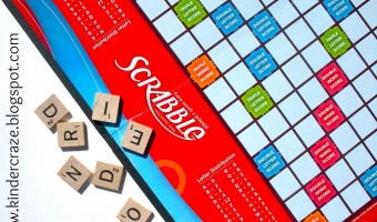 DIY Scrabble Board Classroom Sign