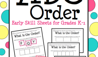 ABC Order Intro and FREEBIE