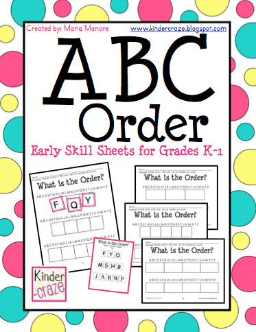 Math Worksheets gingerbread math worksheets : ABC Order Intro and FREEBIE