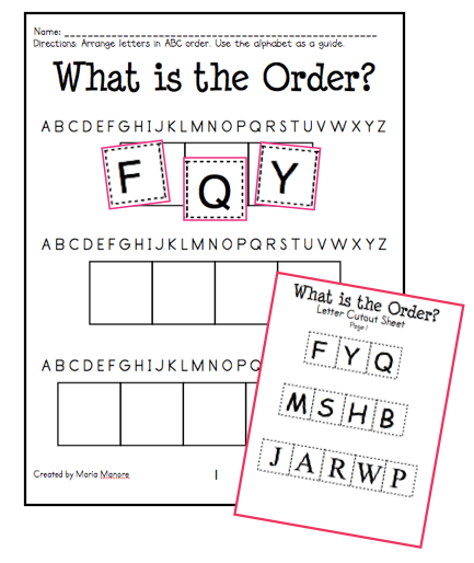 Worksheets Abc Order Worksheet abc order intro and freebie sample