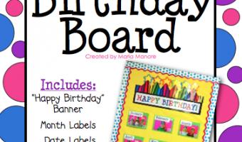 Colorful Birthday Board FREEBIE