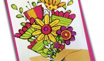 Bouquet of Flowers Class Card Freebie