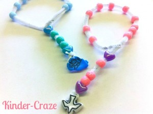 Make a simple, single-decade Rosary out of pipe cleaner and pony beads