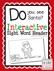 """""""Do you see Santa?"""" Interactive Sight word practice for only $1.00"""