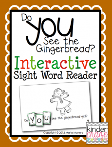 """""""Do you see the Gingerbread?"""" interactive Sight word practice, only $1.00 each"""
