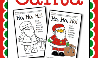 Christmas Color By Number Freebie