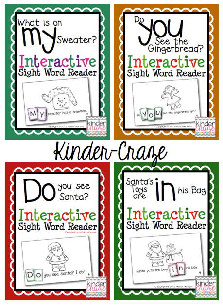 holiday-themed Interactive Sight Word Readers, only $1 each