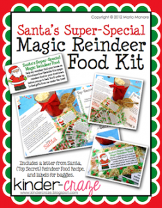 Magic Reindeer Food Kit for your classroom - only $1