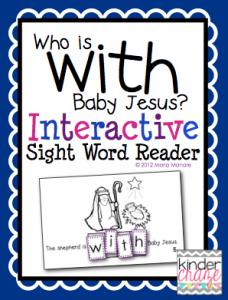 FREE nativity sight word reader