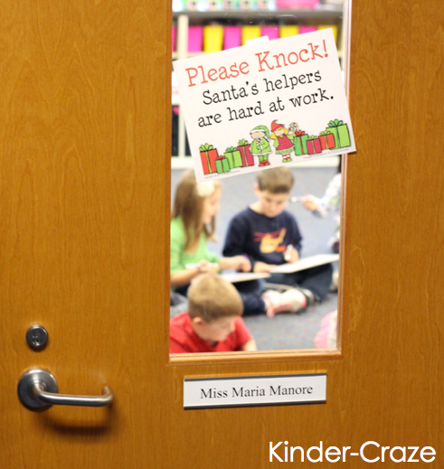 "FREE ""please knock"" sign to hang on classroom door"