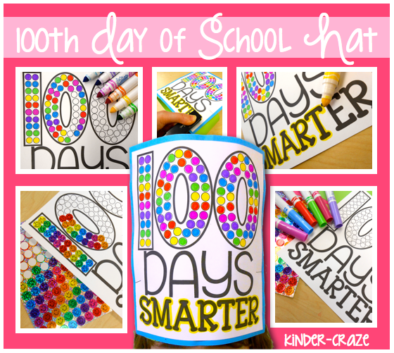 hat craftivity for the 100th Day of School