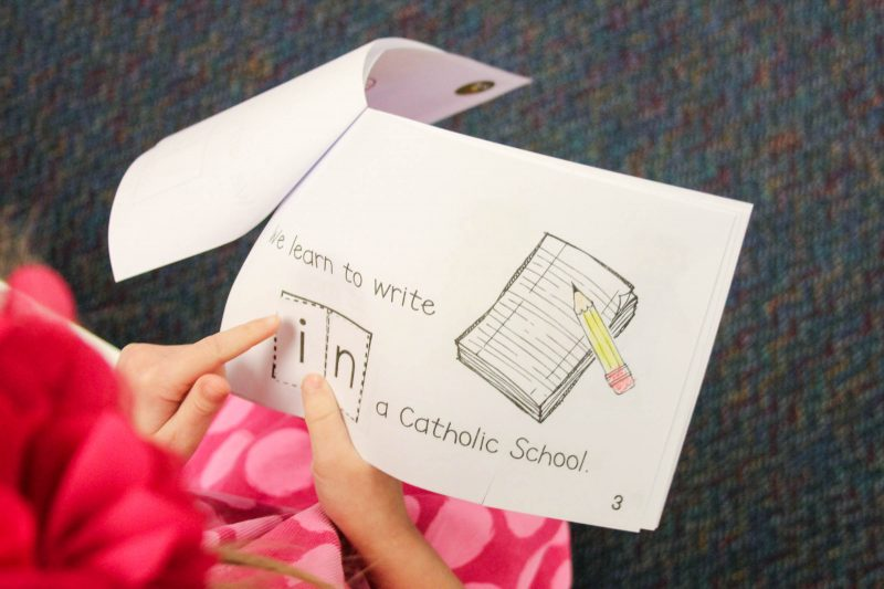 perfect emergent reader for Catholic Schools Week!