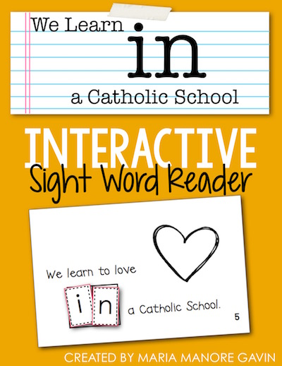 We Learn IN a Catholic School - FREE emergent reader for Catholic Schools Week