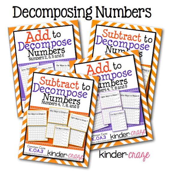 Subtracting to Decompose Numbers Still Interacting with the – Decomposing Numbers Worksheets