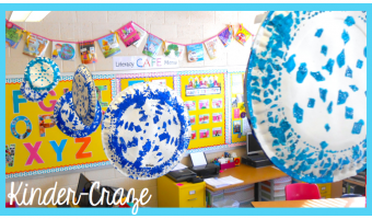 Dazzling Paper Plate Snowflakes