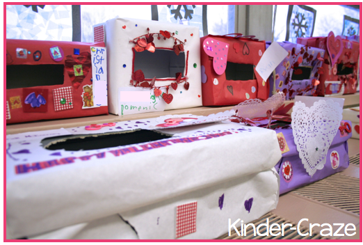decorate old shoeboxes to create VALENTINE MAILBOXES!