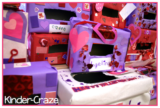 decorate Valentine mailboxes from old shoeboxes