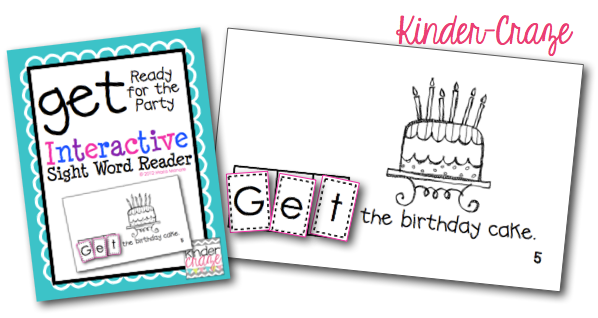 Get-ready-for-the-party-sight-word-reader-cover-and-sample-pic-kinder-craze