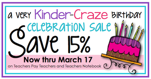 Save 15% on ALL Kinder-Craze products!