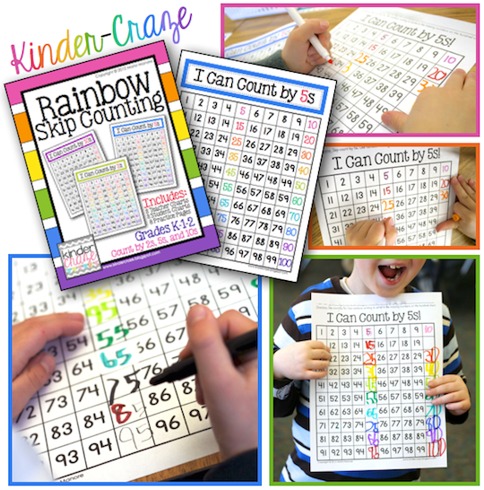 RAINBOW Skip Counting - great for St. Patrick's Day!