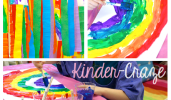 Rainbow Painting Windsock Art for St. Patrick's Day