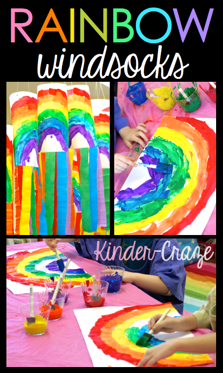 bright rainbow windsock tutorial for St. Patrick's Day