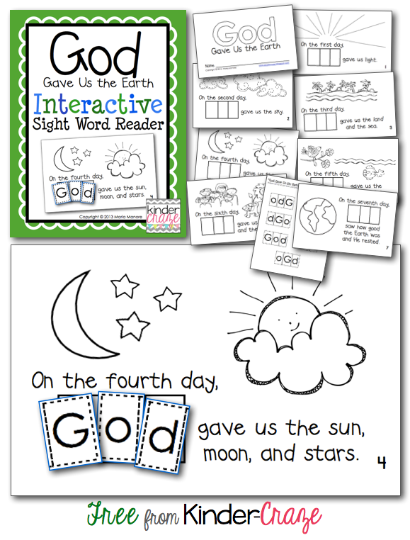 God-Gave-us-the-Earth-interactive-sight-word-reader-for-Earth-Day-kinder-craze