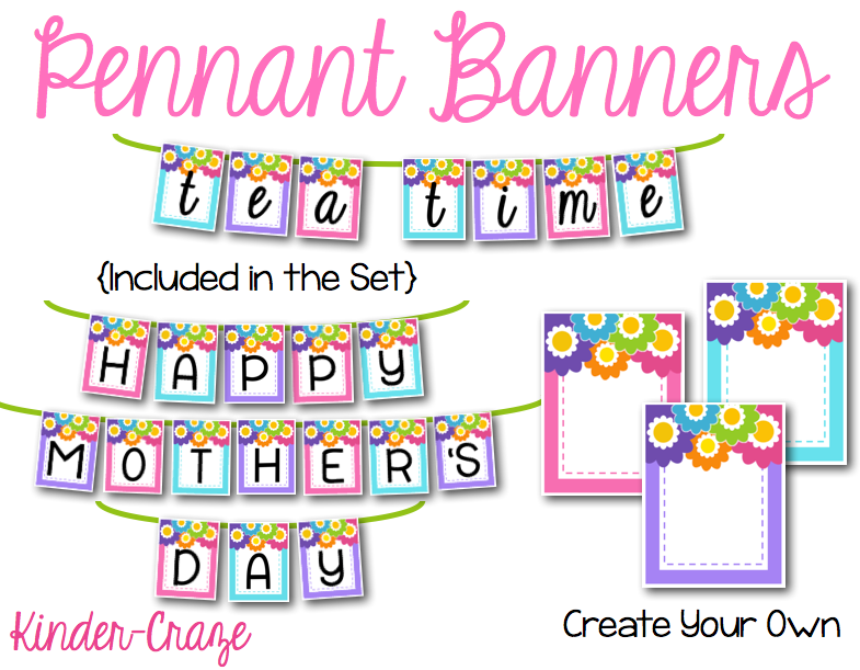 mothers-day-tea-party-pennant-banners-ediable-printable-kinder-craze