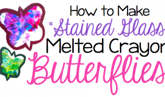 Stained Glass Melted Crayon Butterflies