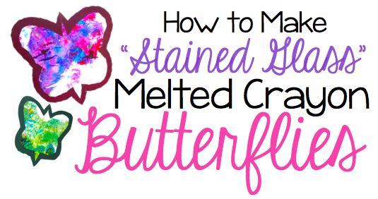 stained-glass-melted-crayon-butterflies