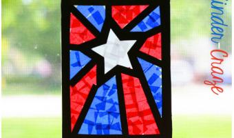 Patriotic Craft Window Decorations: A Visual Tutorial