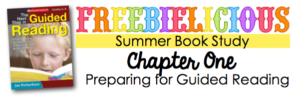 Freebielicious Summer Book Study: The Next Step in Guided Reading