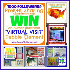 enter to win a Virtual classroom visit from Debbie Clement via Skype!