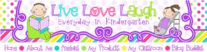 Live Love Laugh Everyday in Kindergarten