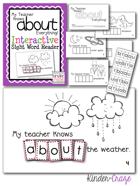my-teacher-knows-about-everything-kinder-craze-interactive-emergent-sight-word-reader-pic