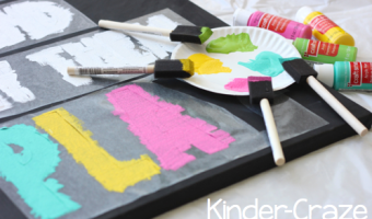 "Keep Calm Painted Canvas ""Chalkboard"" Tutorial"