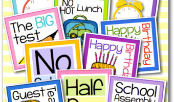 Calendar Freebies for Back to School